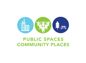 Public Spaces Community Places logo.